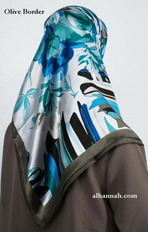 Turkish Floral Printed Hijab hi2008