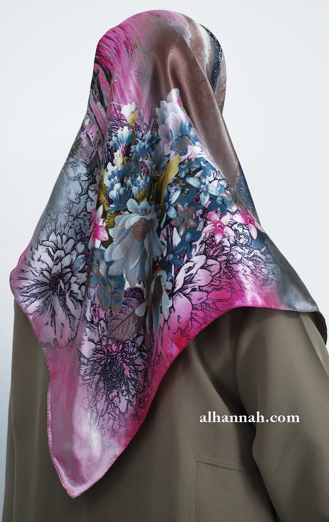 Turkish Printed Floral Hijab hi2012