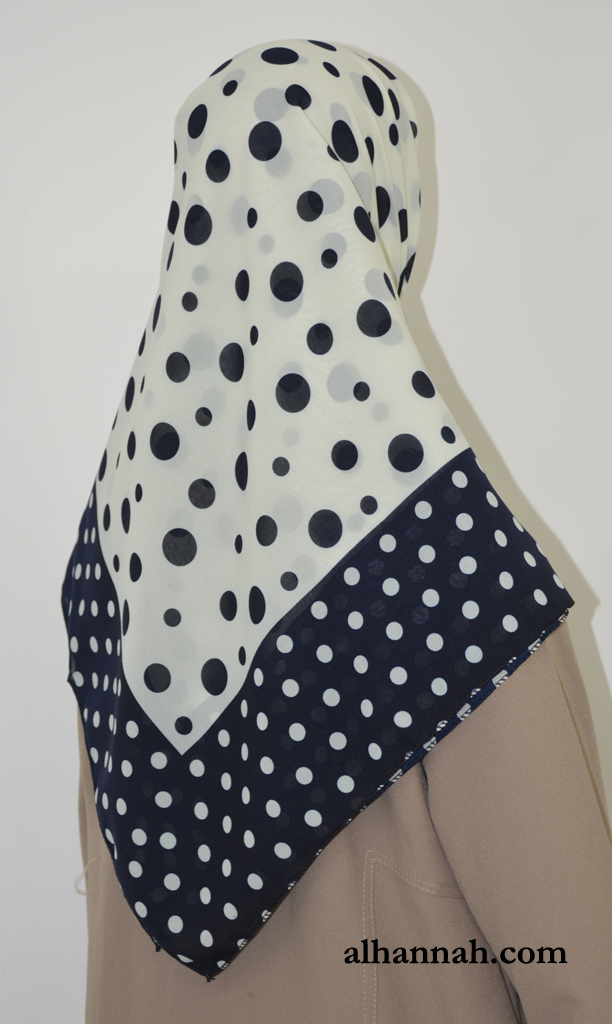Polka Dot Print Square Hijab hi2017