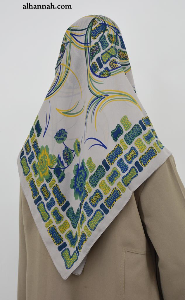 Turkish Modern Floral Print Hijab hi2022