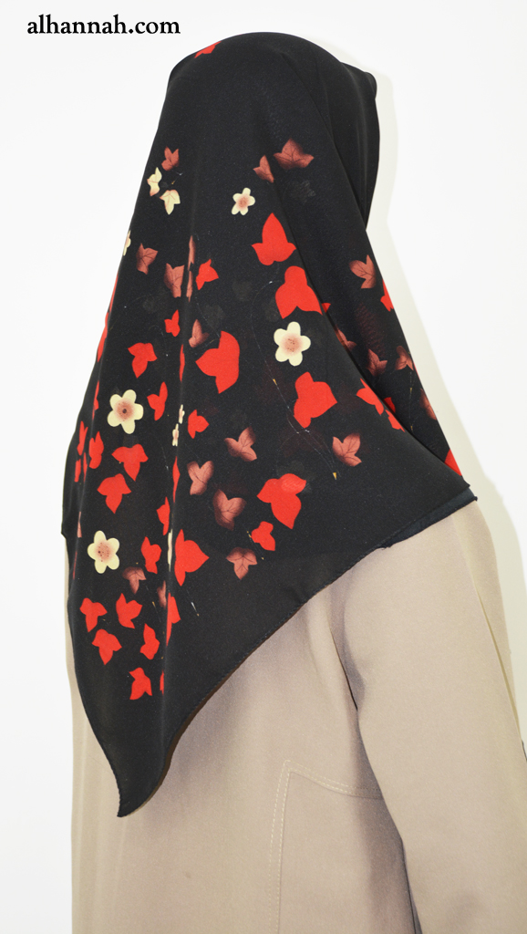 Hijab with Bold Leaves Print  hi2026