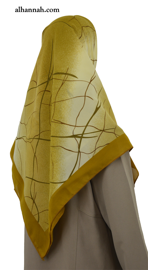Hijab with Contemporary Marble Print  hi2027