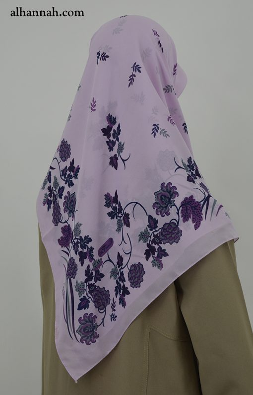 Grape Leaves Print Turkish Hijab hi2028