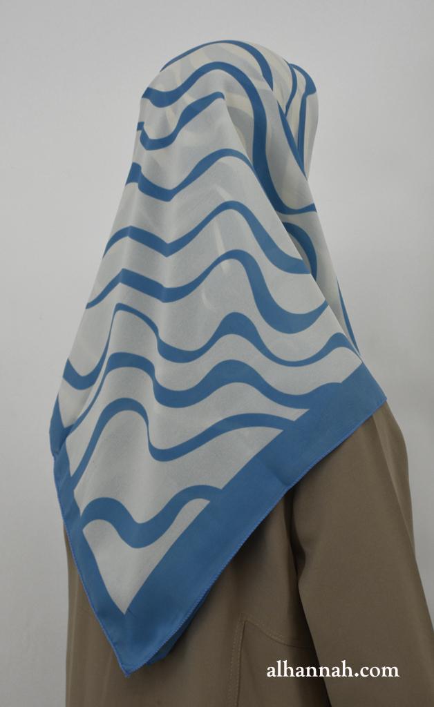 Hijab with Wave Print hi2029