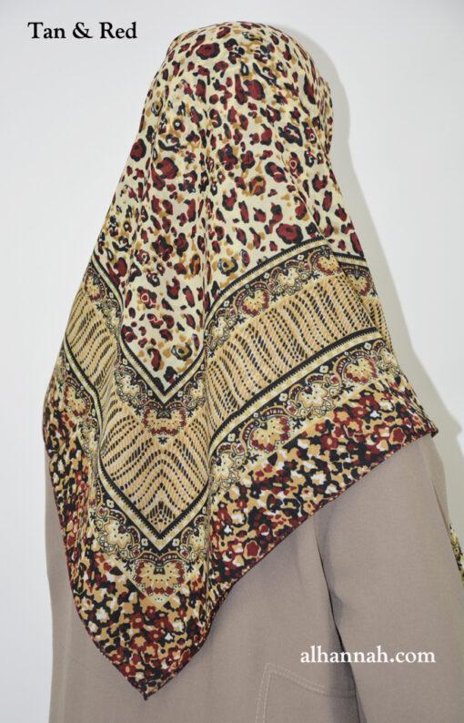 Leopard Print Square Hijab  hi2030
