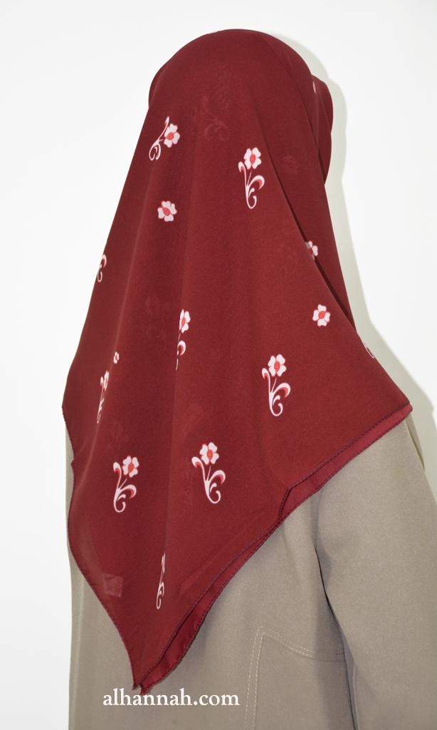Floral Print Square Hijab hi2031