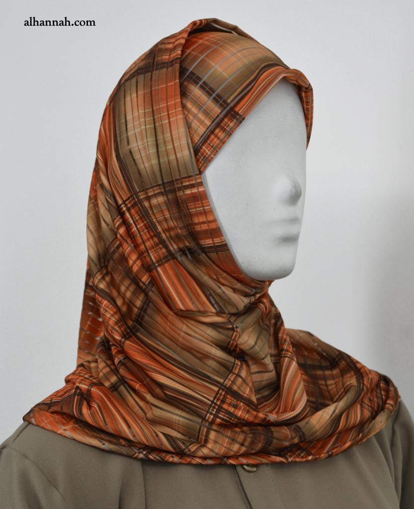 AlAmirah Plaid Print Hijab hi2043