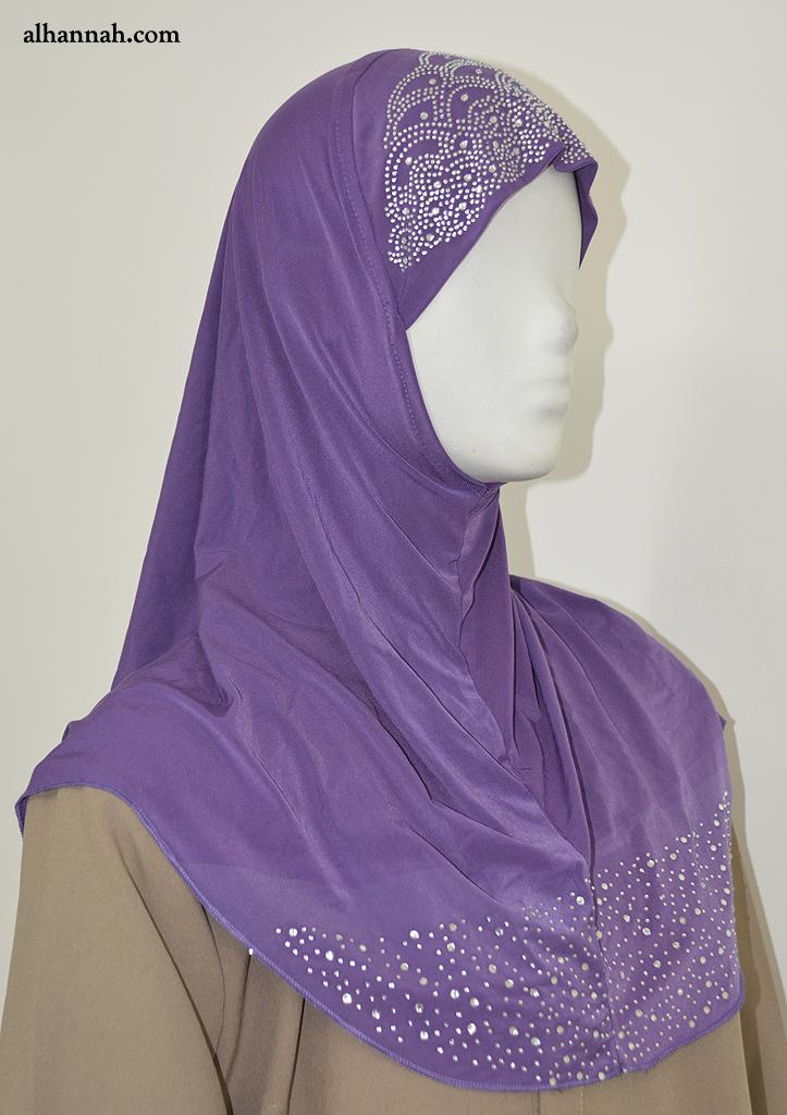 OnePiece AlAmirah Hijab with Bead Accent hi2045