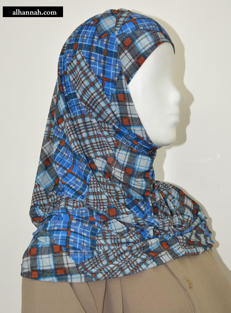 AlAmirah Hijab with Casual Plaid Print hi2046