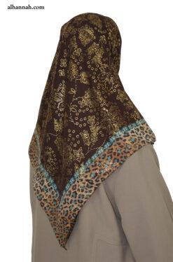 Turkish Hijab with Floral Foil Design hi2052
