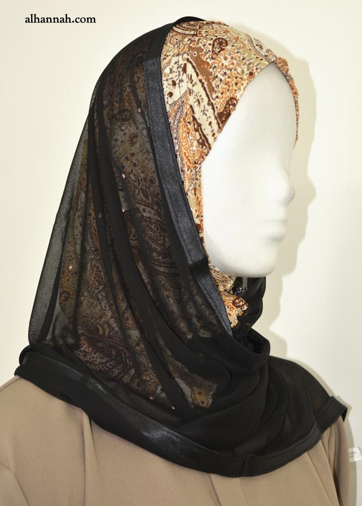 Kuwaiti Shayla Wrap Paisley Print hi2060