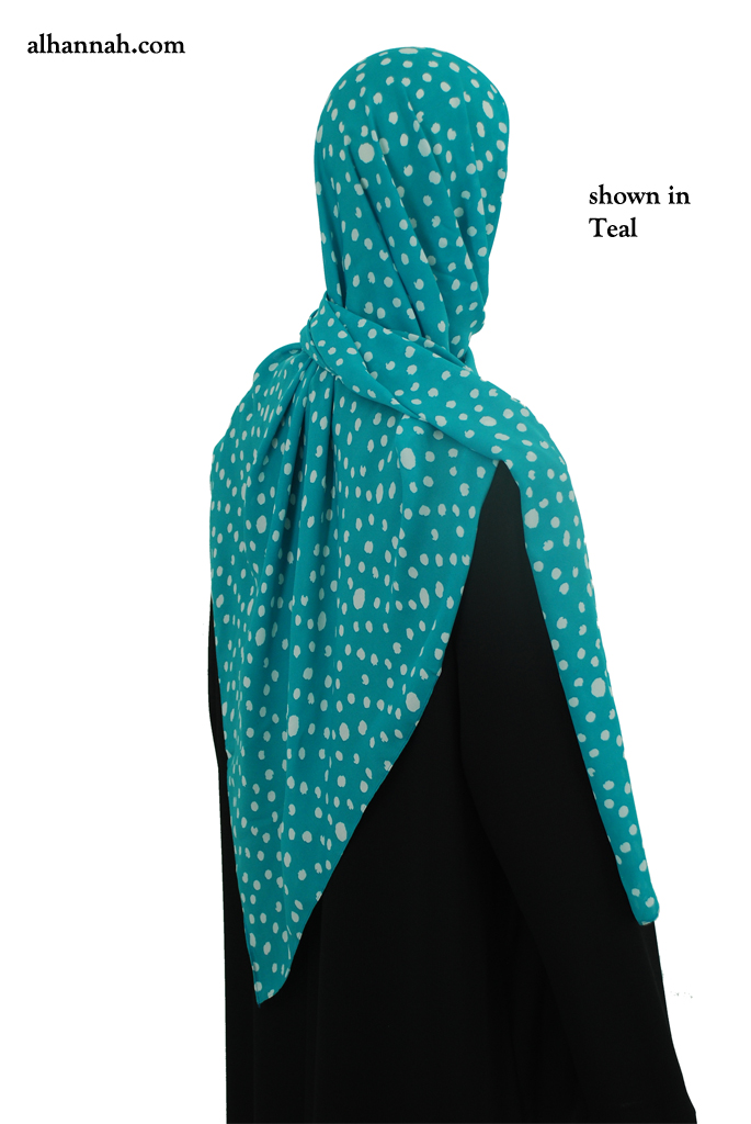 Shayla Georgette with Dot Print hi2064