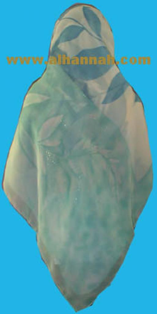 Premium Quality Middle Eastern Golden threaded Fern Hijab hi326
