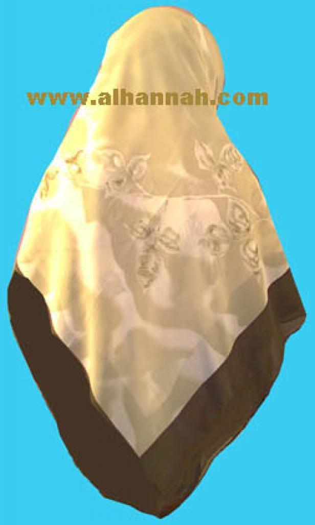 Middle Eastern Floral Hijab hi336