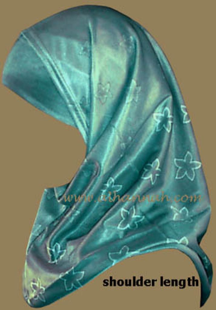 Satin Jaquard Al-amira Hijab  hi401