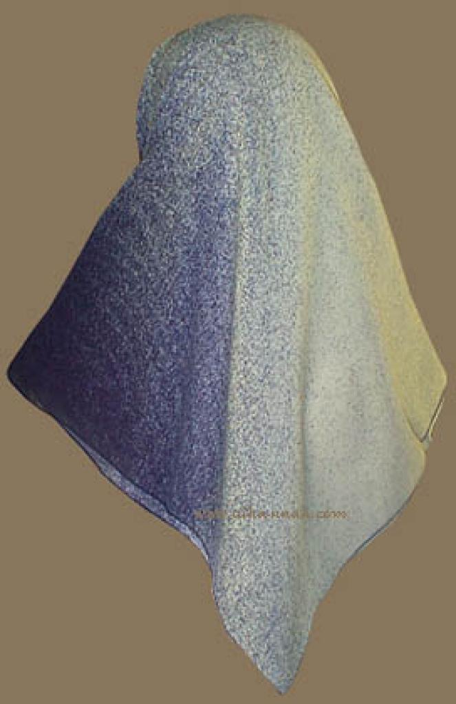 Reversable Turkish Gauze  hijab hi718