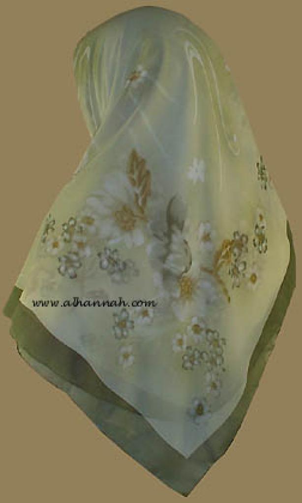 Middle Eastern Floral Hijab   hi805