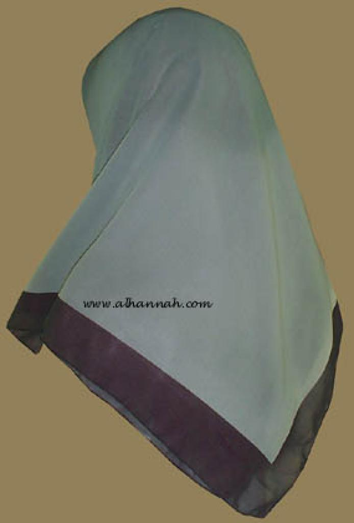 Tri-tone Jordanian Hijab   hi806