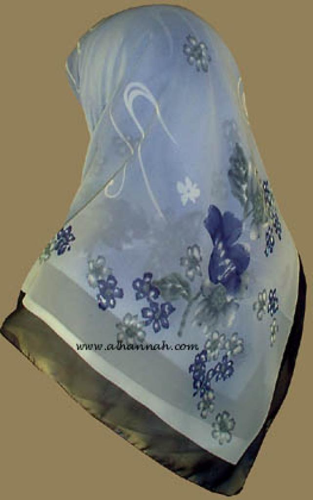 Middle Eastern Floral Hijab   hi808