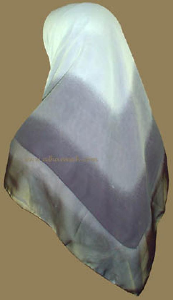 Tri-tone Jordanian Hijab   hi809