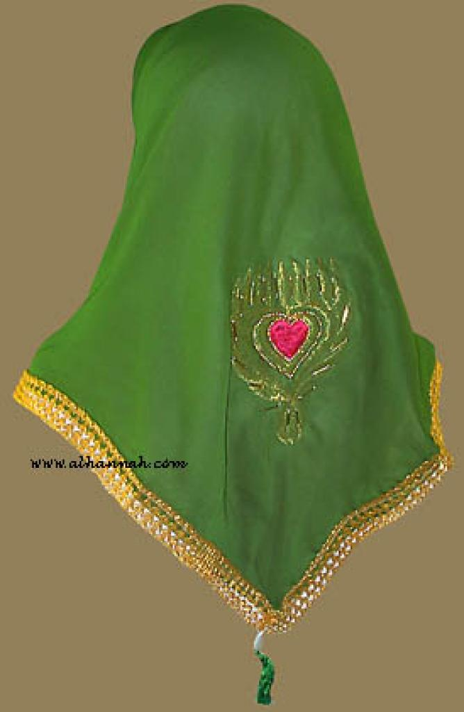 Tasseled Triangle Hijab hi810