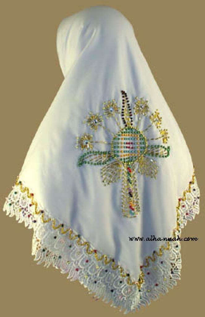 Beaded Triangle Hijab hi818