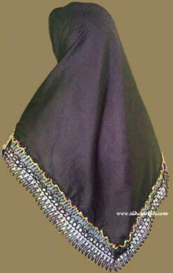 Beaded Triangle Hijab hi819