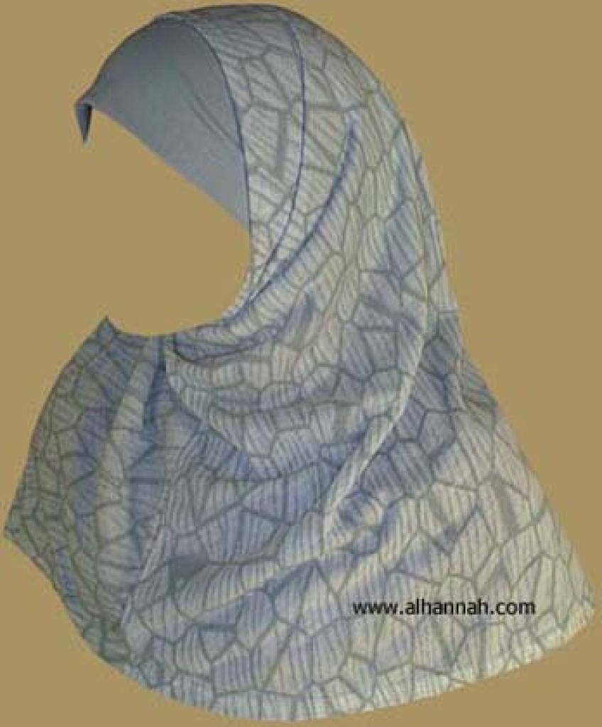 Printed Plain Edge Al Amira 2 piece hijab hi874