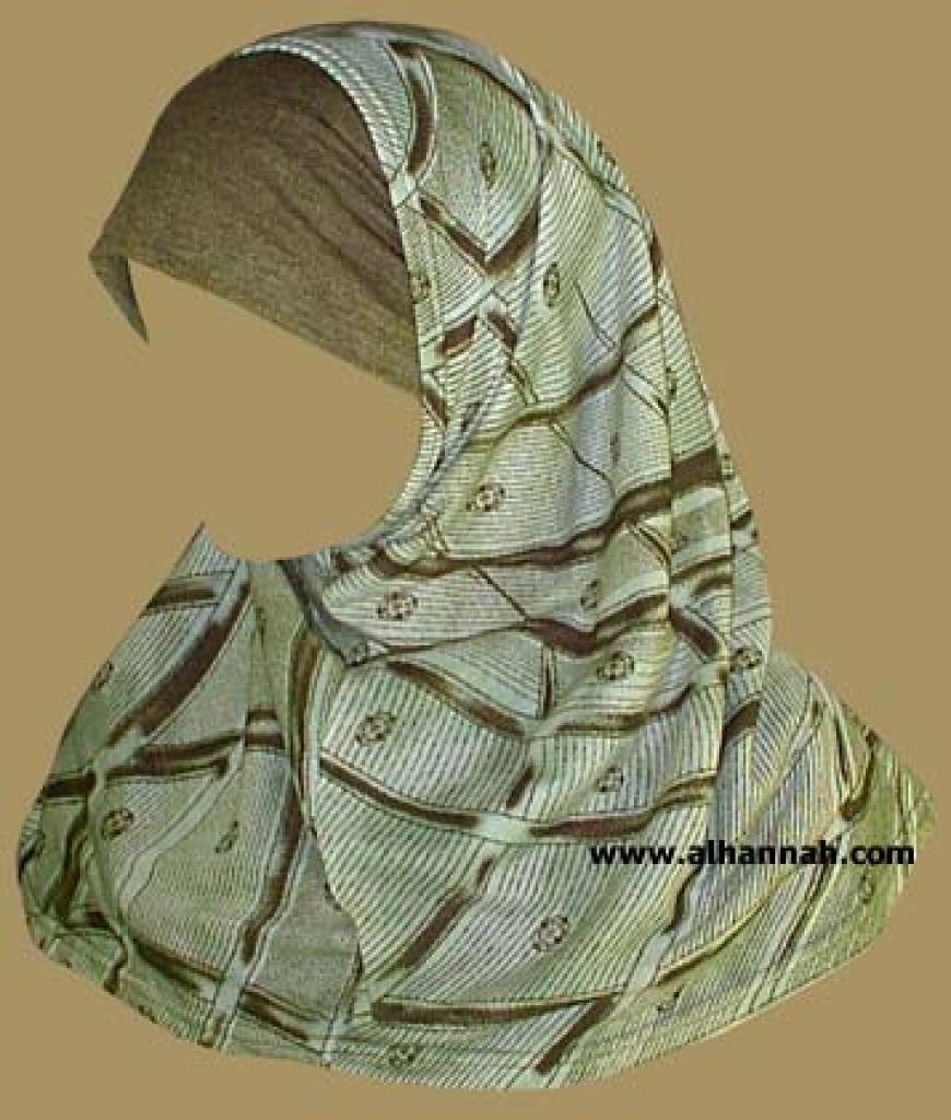 Printed Plain Edge Al Amira 2 piece hijab   hi881