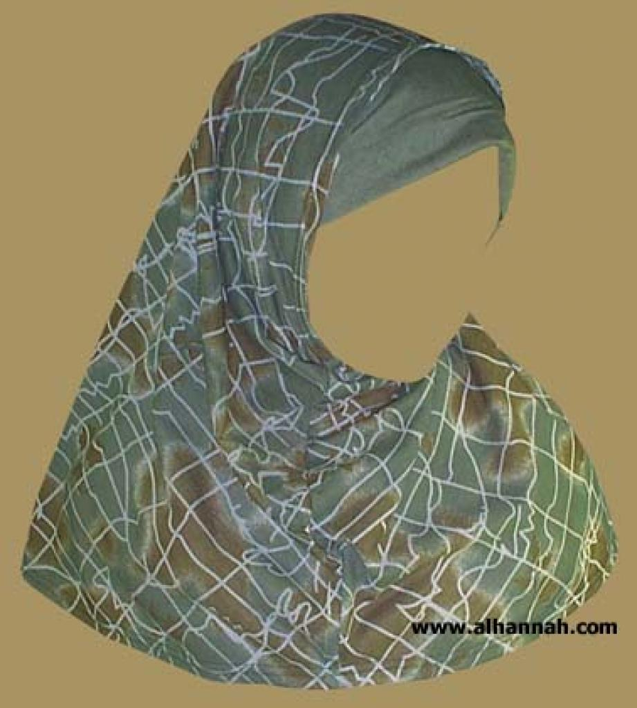 Printed Plain Edge Al Amira 2 piece hijab  hi884
