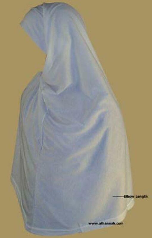 Extra Long Al-Amira Two piece Religious Veil -  Plain Edge hi885
