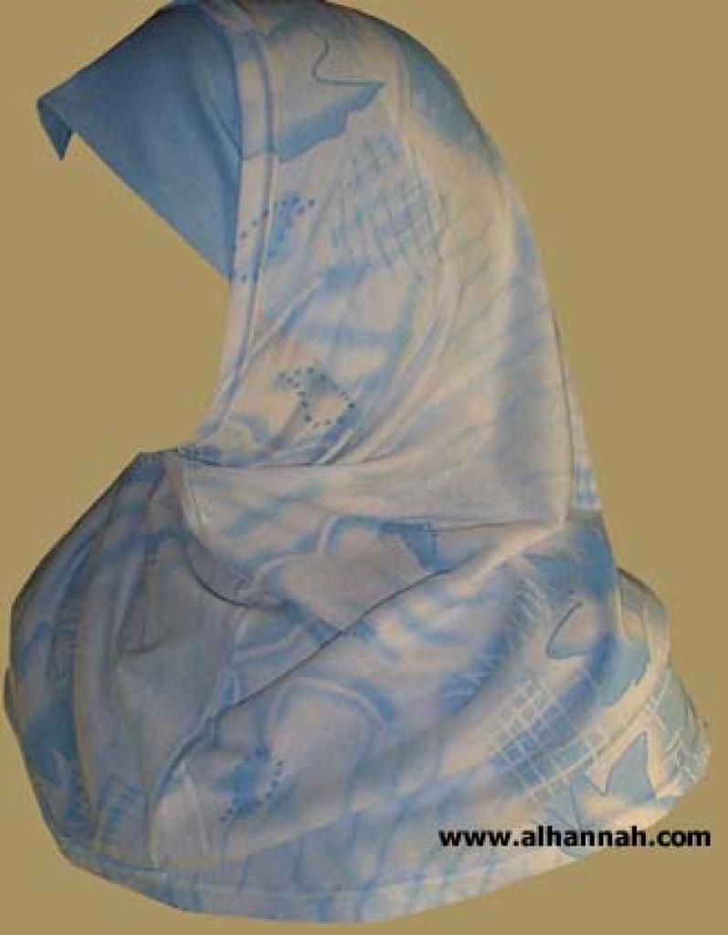Printed Plain Edge Al Amira 2 piece hijab hi888