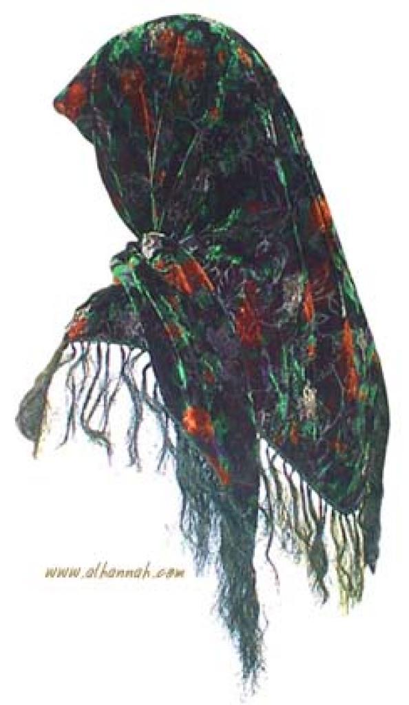 Burnt Velvet Triangle Hijab hi906