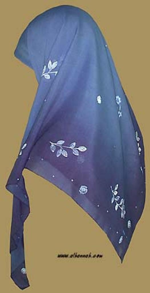 Georgette Chiffon Hijab   hi907