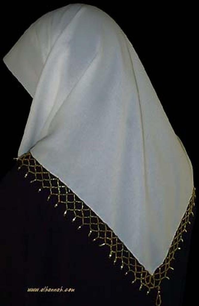 Beaded Triangle Hijab hi924