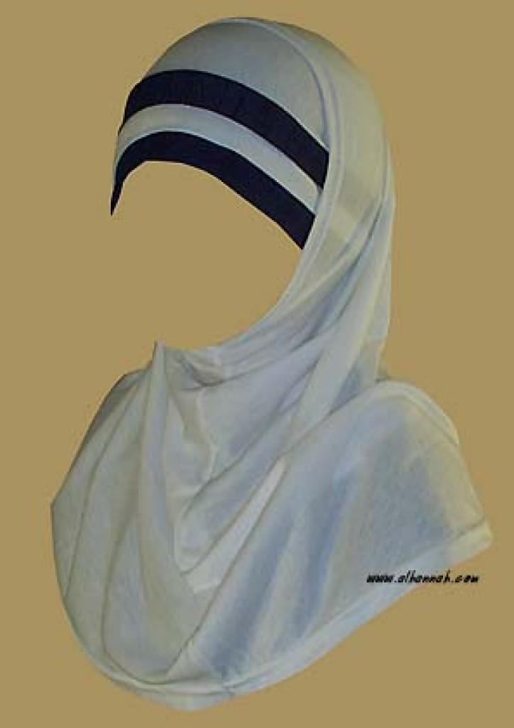 Duotone Stripe Two Piece Religious Veil  hi926