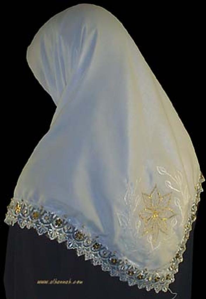 Beaded Triangle Hijab hi927