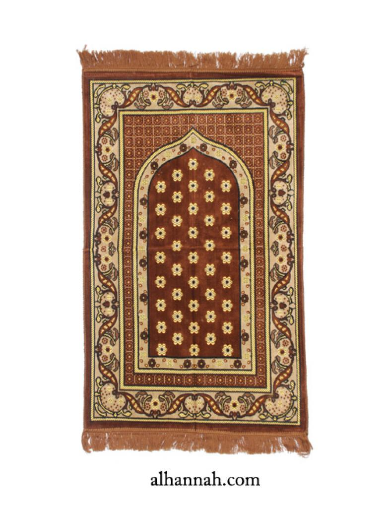 Embroidered Pattern Prayer Rug ii1001