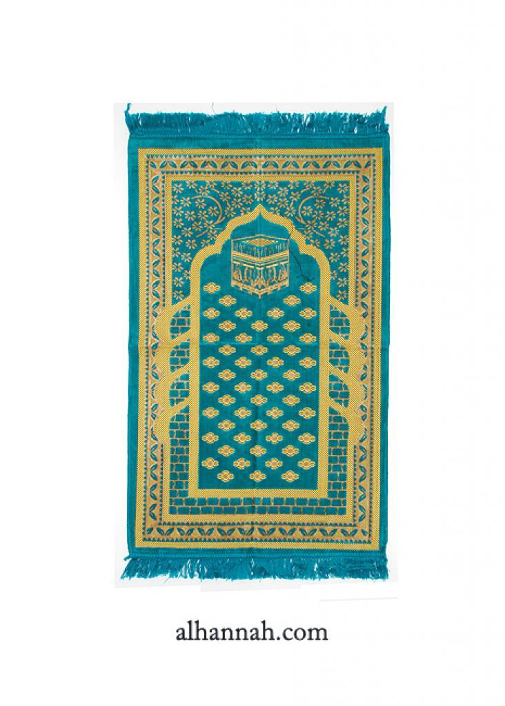 Embroidered Kaaba Pattern Prayer Rug ii1004