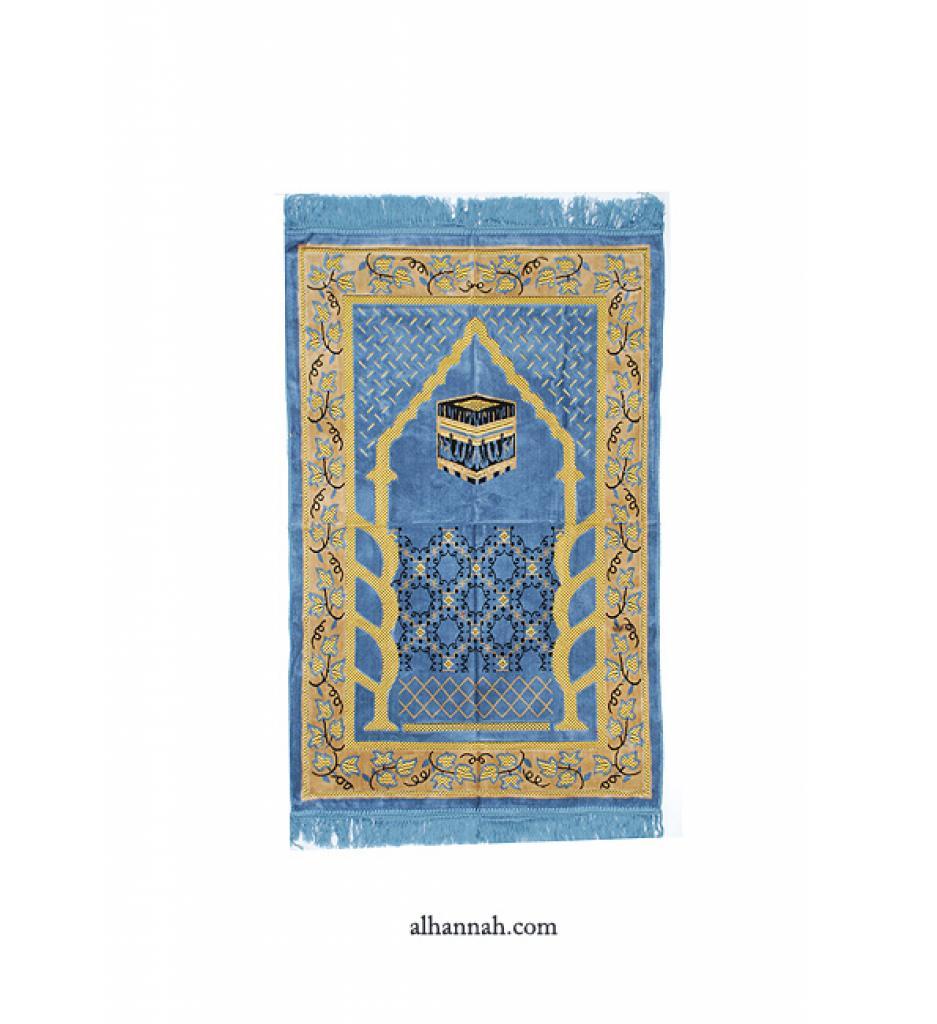 Embroidered Kaaba Pattern Prayer Rug ii1006