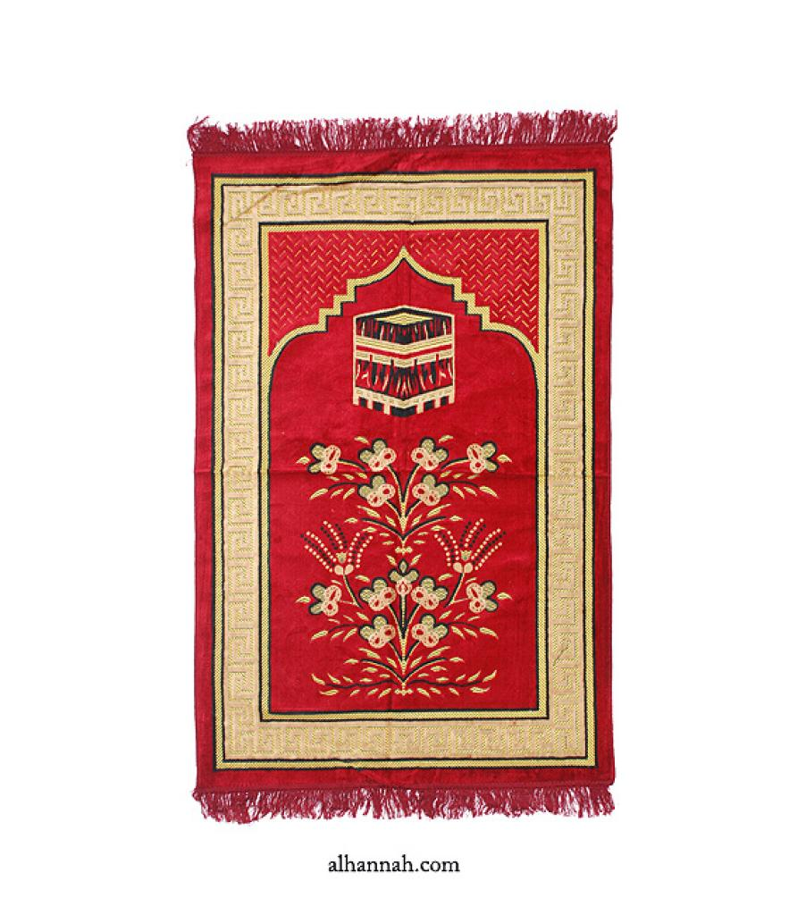 Embroidered Kaaba Pattern Prayer Rug ii1007