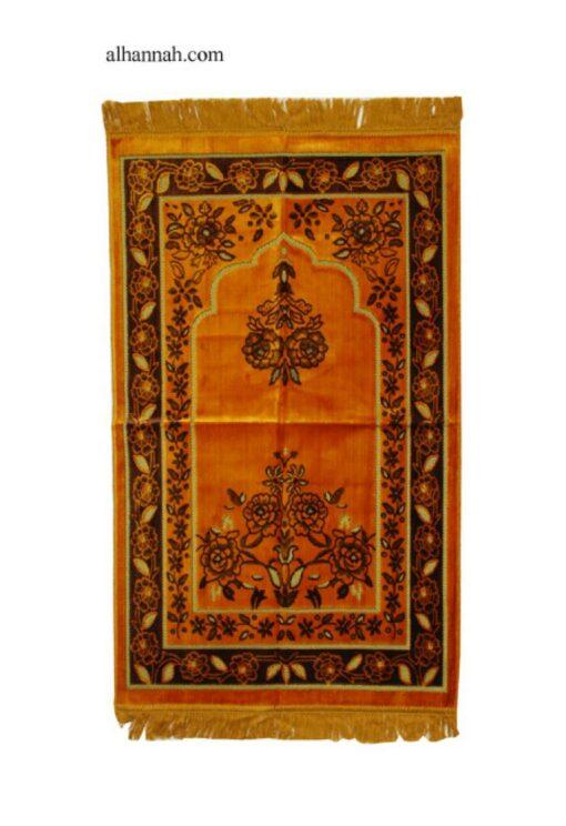 Embroidered Floral Pattern Prayer Rug ii1014