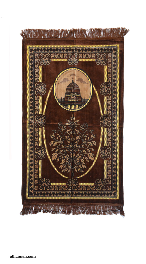 Turkish Prayer Rug Features Dome and Tree of Life Design ii1059