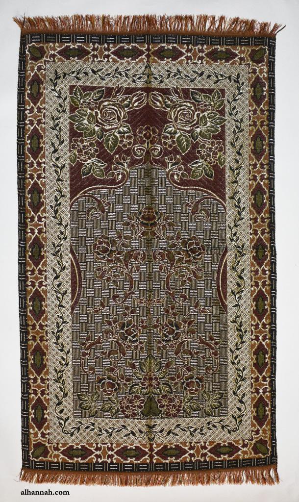 Metallic Threaded Turkish Prayer Mat ii1060