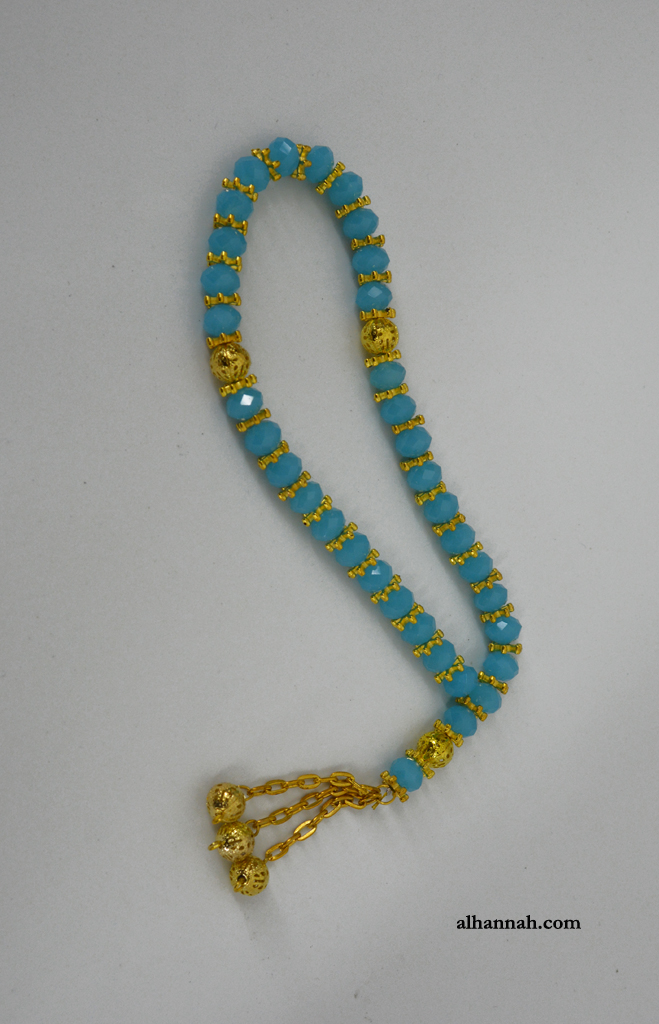 Premium Turquoise Tone 33 Bead Prayer Beads Set ii1078