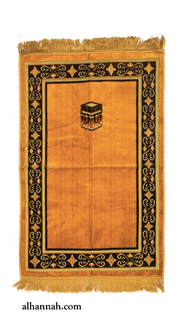 Turkish Prayer Rug with Kabba repeating border design ii1091