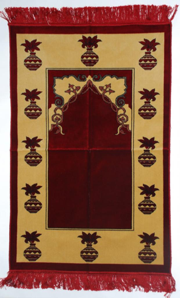 Premium velour woven prayer rug  ii647