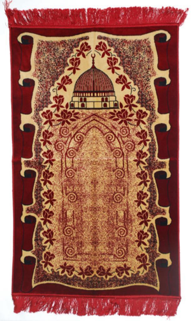 Premium velour woven prayer rug  ii653
