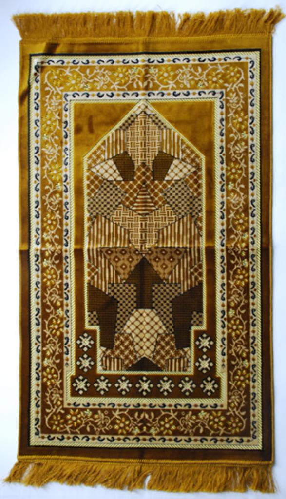 Premium velour woven prayer rug  ii667
