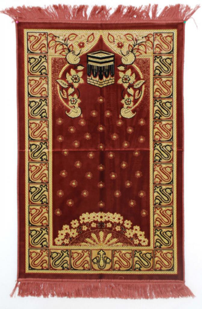 Premium velour woven prayer rug  ii674